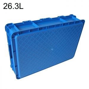 solid base euro stacking crate 28l