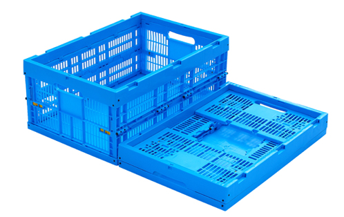 collapsible crate with handles