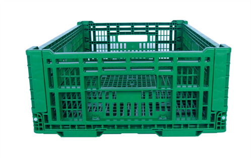 collapsible crate with lid